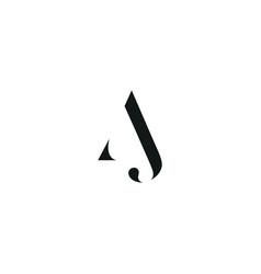 Aj initial logo design logo letter logo vector
