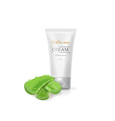 aloe vera body cream cosmetic skin care lotion vector image