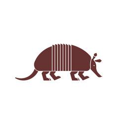 Armadillo icon animal nine-hip vector