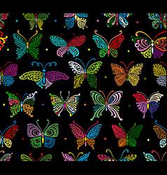 art butterflies seamless pattern for your design vector image
