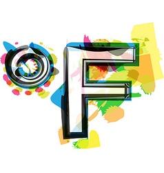 Artistic Fahrenheit Symbol vector