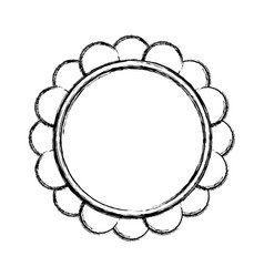 beautiful flower symbol vector image
