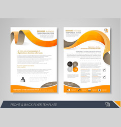 business brochure cover design vector image