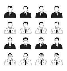 Business man icons set vector