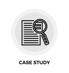 Case Study Icon vector image