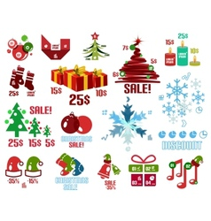 Christmas infographic templates and elements set vector image