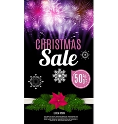 Christmas Sale Banner Background Business vector