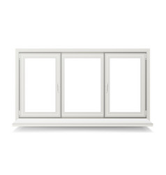 closed plastic window isolated on white vector image