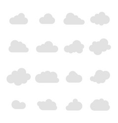 cloud icon cloud grey colored sky clouds set vector image