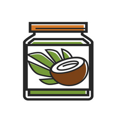 coconut butter cosmetics singapore production vector image
