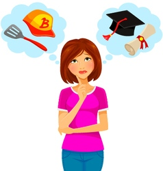 college and work vector image