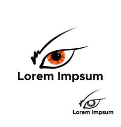 cyber eye symbol icon cyber logo vector image