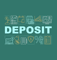 Deposit investment word concepts banner savings vector