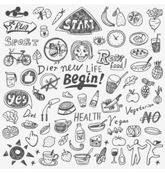 Diet doodles vector