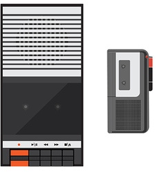 Digital voice recorder vector