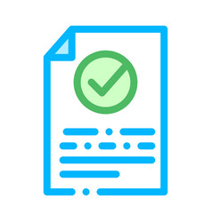 document text file with approved mark icon vector image