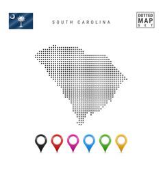Dots pattern map south carolina stylized vector