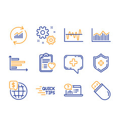 Education money diagram and stock analysis icons vector