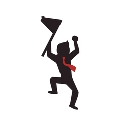 Flag winner man male human competition icon vector