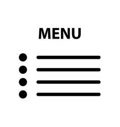 Flat menu icon vector