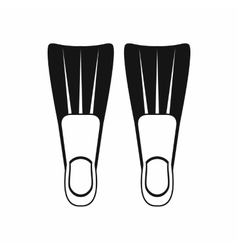 Flippers for diving icon simple style vector image