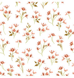 Floral ornamental seamless pattern flower garden vector