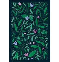 green leaves flowers summer spring design vector image