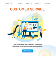 Group people customer support worker vector