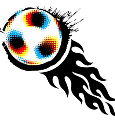 halftone soccer ball vector image