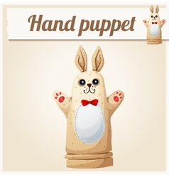Hand Puppet Rabbit Cartoon vector