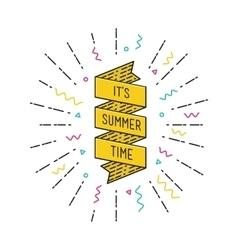It is summer time Inspirational vector image