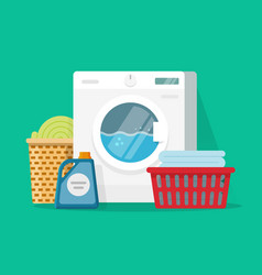 Laundry room service flat vector