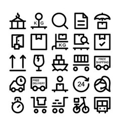 Logistics delivery colored icons 4 vector