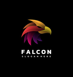 Logo falcon gradient colorful styleuntitled-1 vector