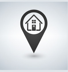 map pointer markers icon home flat design vector image