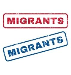 Migrants Rubber Stamps vector