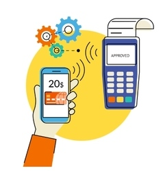 Mobile payment vector image