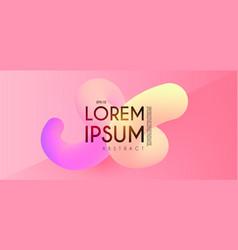Modern 3d blend abstract backgrourn fluin color vector