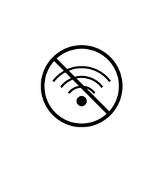 no wifi line icon prohibition sign forbidden vector image