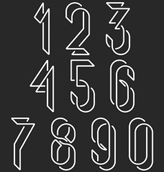 Numerical symbols line monogram numbers mockup vector