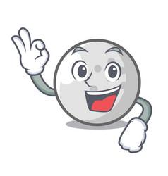 okay golf ball character cartoon vector image