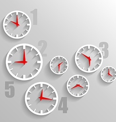 Paper Watch dials 3d graphic technology background vector