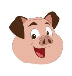 Pig cartoon icon vector