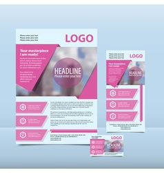 Pink modern annual report vector
