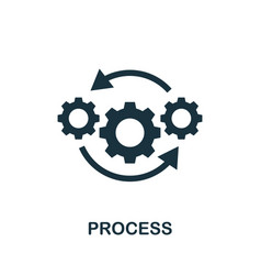 Process icon simple element from audit collection vector