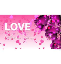 pruple roses card shiny glamour invitation vector image