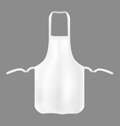 Realistic detailed 3d kitchen cotton apron vector