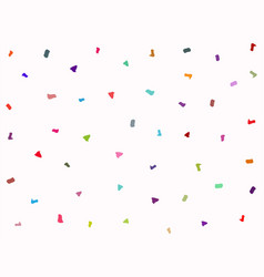 Rectangular background with scattered colorful vector