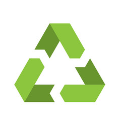 recycling symbol environmental or ecological vector image