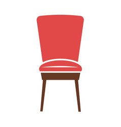 red minimalistic chair vector image
